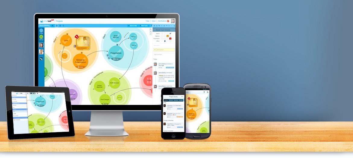 DropTask - Visual task management application screenshot